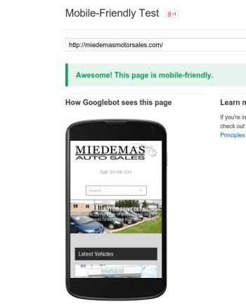 miedemas mobile friendly test result