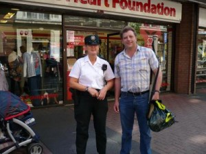 Ian Scott With PSNI Officer During Belfast Shopping Trip