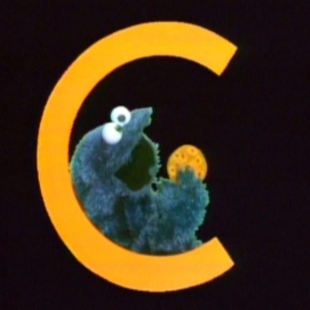 cookie monster letter C is for cookie