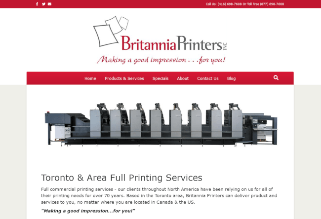 britannia website screenshot
