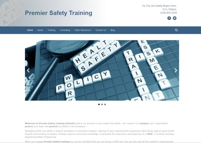 premier safety training website screenshot