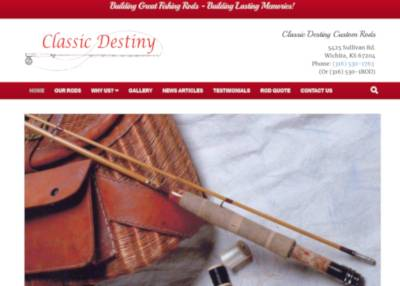 classic destiny rods website screenshot