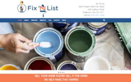 fix 'n list website screenshot