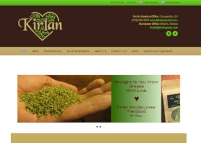 kirian website screenshot