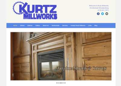 kurtz millworks website screenshot