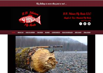 meiser fly rods website screenshot
