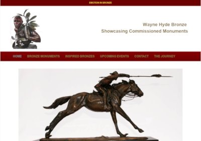 wayne hyde bronze website mini-screenshot