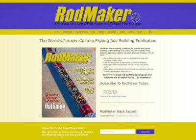 rodmaker magazine website screenshot
